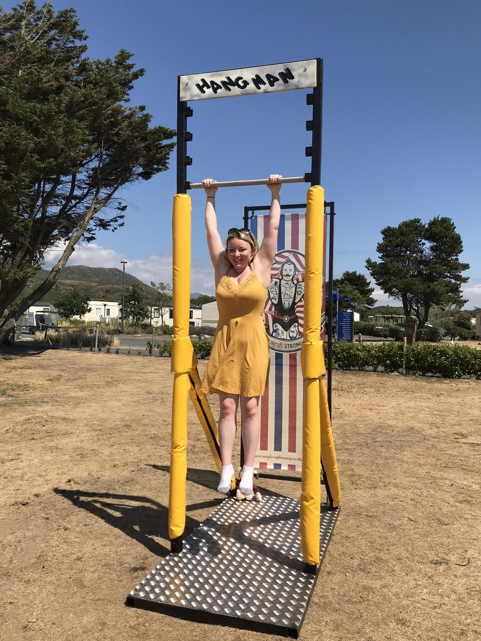 Hang challenge, Hangman game, Anglesey hangman, Anglesey fairground