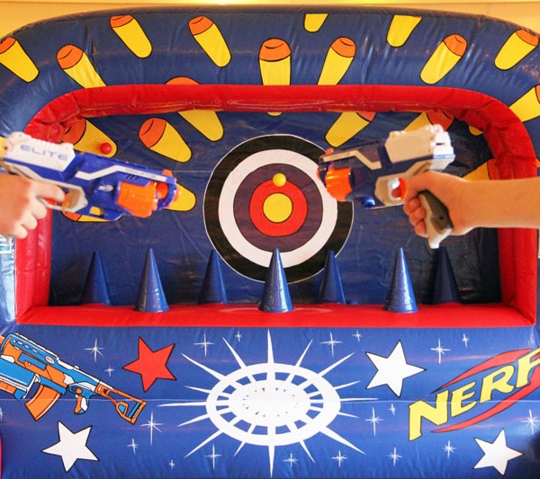 Nerf shooting gallery, Anglesey Nerf