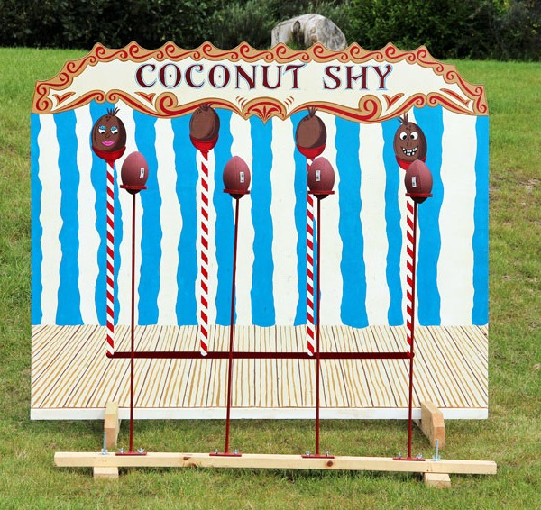 Coconut shy, anglesey bouncy castle hire